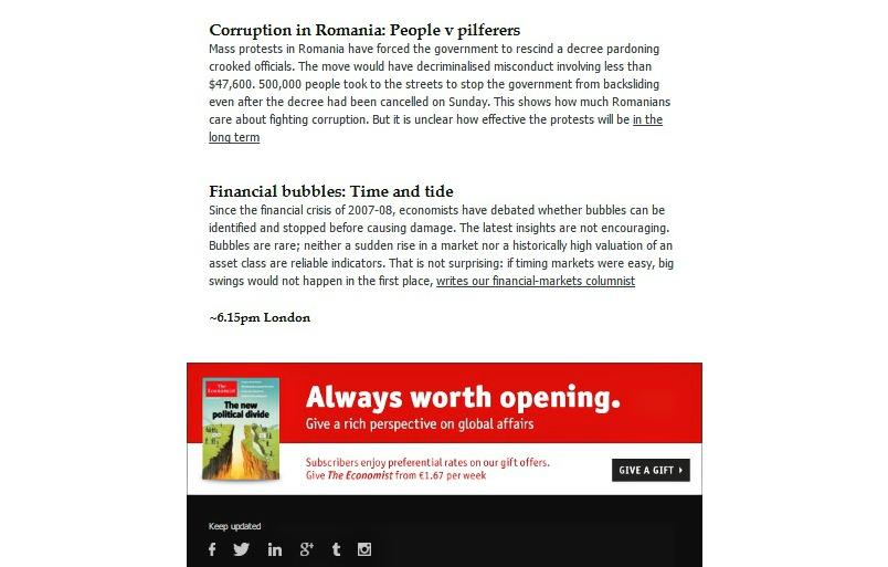 the economist - newsletter