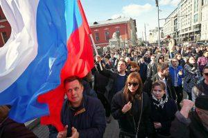Cifrele care explică de ce 8.000 de ruși au protestat duminică pe străzile Moscovei