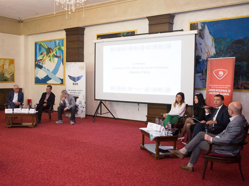 """Caravana NewMoney """"Centenar 2018"""", la Râmnicu Vâlcea: criza forței de muncă, o problemă mai gravă decât lipsa infrastructurii"""