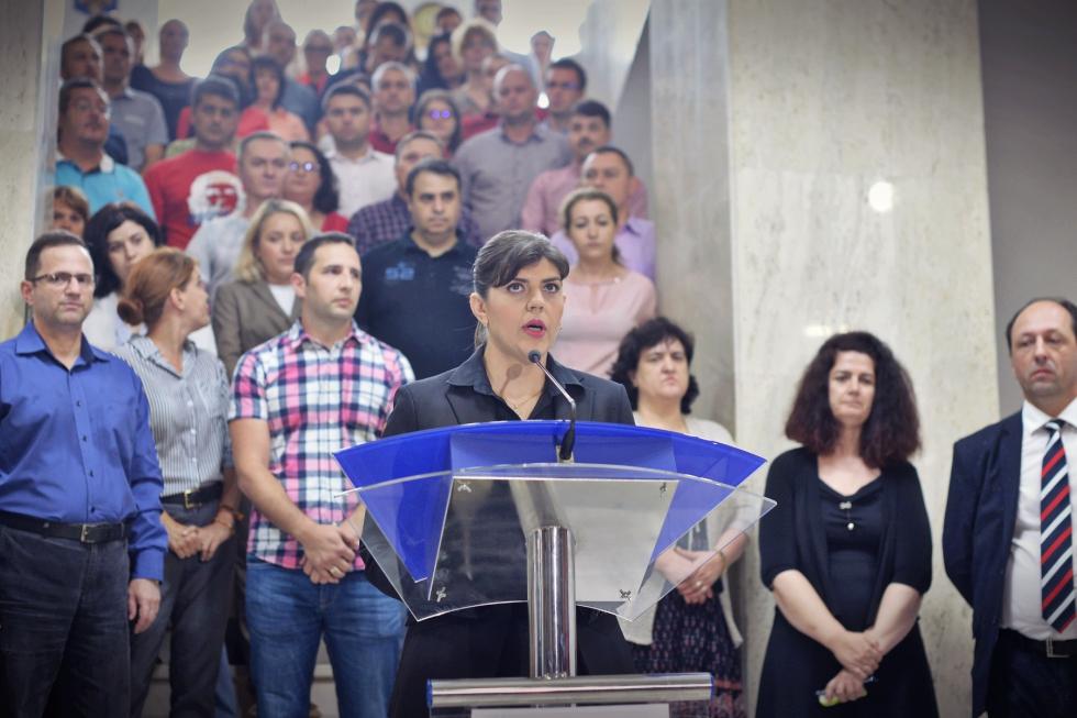 """Laura Codruța Kovesi, declarații după revocarea de la conducerea DNA: """"Corupţia poate fi învinsă, nu abandonaţi"""""""