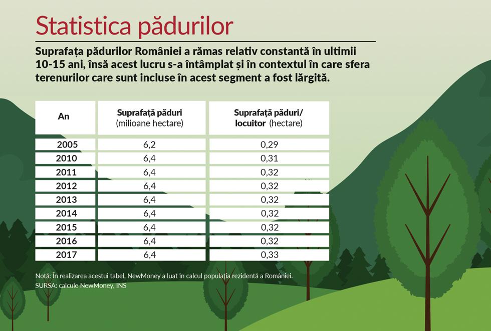 """Aritmetica pădurilor: fiecărui român îi revine o treime de hectar de """"aur verde"""""""
