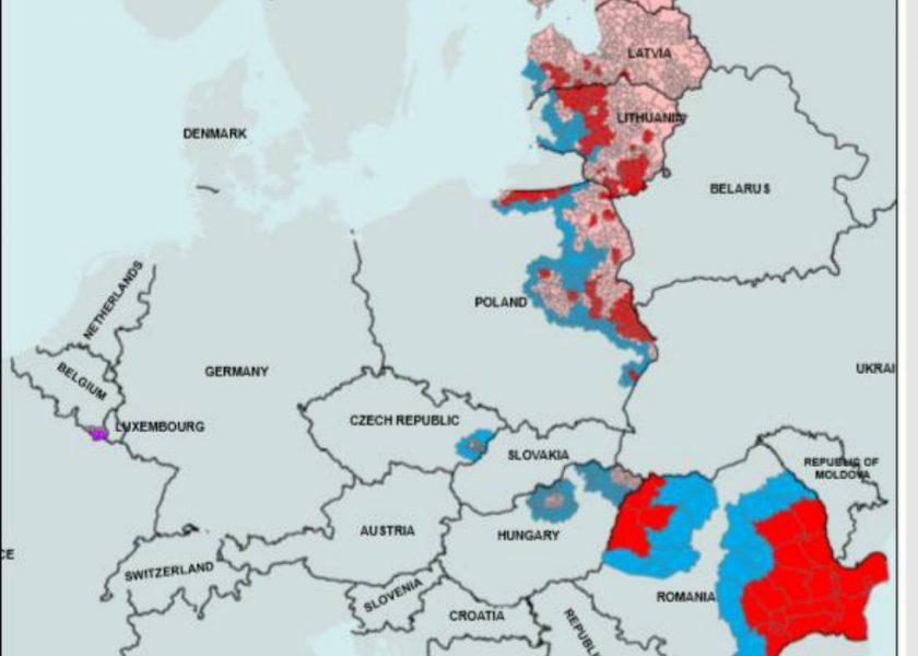 Harta Care Arată Cat De Mult S A Extins Pesta Porcină Romania Ar