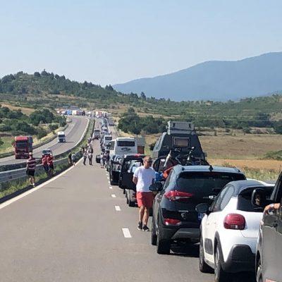 Cozi kilometrice la vama Promachonas-Kulata de la frontiera dintre Bulgaria și Grecia - FOTO